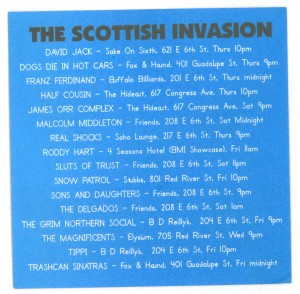 Scottish Invasion SXSW 2004 Bands